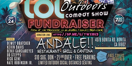 LOL Outdoors Comedy: FUNDRAISER  at Andale!  9/24 -7:30 pm tickets