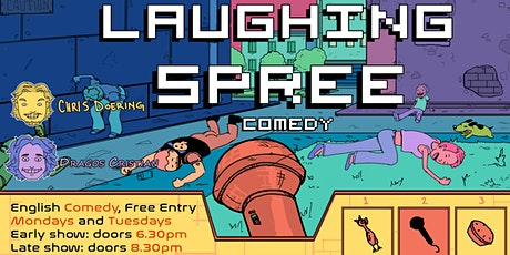 FREE ENTRY English Comedy Show - Laughing Spree 13.10. - LATE SHOW tickets