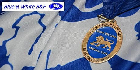 2020 Blue and White Best and Fairest tickets