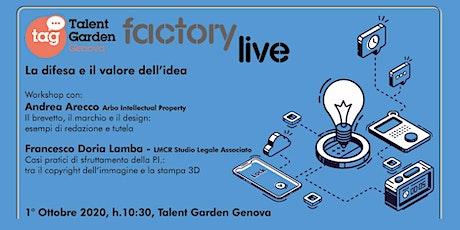 Talent Garden Genova Factory Live biglietti