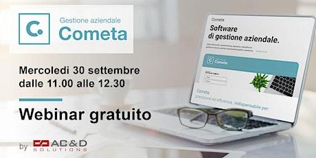 COMETA Software per Imprese e Professionisti biglietti