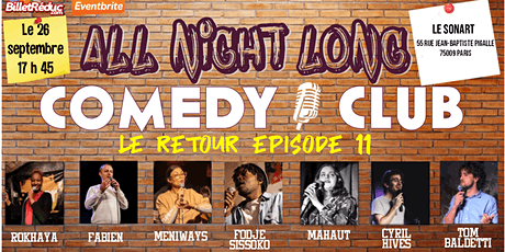 All night long comedy club tickets