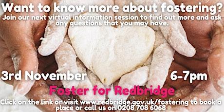 Foster for Redbridge Information Session, 03.11.20, 6-7pm tickets