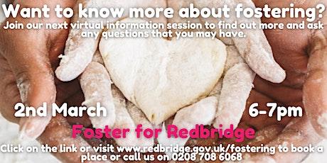 Foster for Redbridge Information Session, 02.03.21, 6-7pm tickets