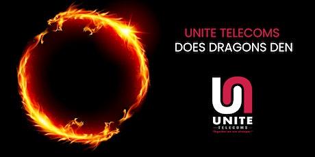 Unite Telecoms does Dragons Den Gala Dinner tickets