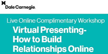 Virtual Presenting - How to Build Relationships Online tickets
