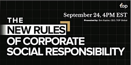 London Webinar-The New Rules of Corporate Social Responsibility tickets