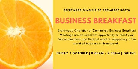 Virtual Business Breakfast tickets