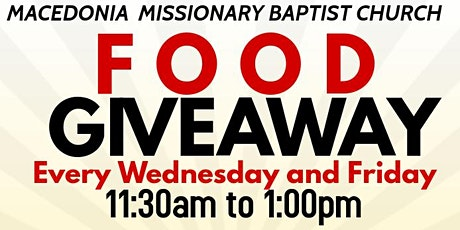 Food Giveaway tickets