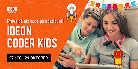 Ideon Coder Kids - Prova på att koda under höstlovet! biljetter