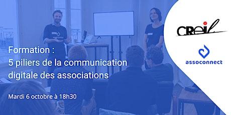 Formation : 5 piliers de la communication digitale des associations billets