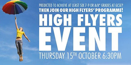High Flyers' Evening Thursday 15th October 2020 tickets