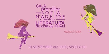 Gala Premiilor Sofia Nădejde pentru Literatură Scrisă de Femei III billets
