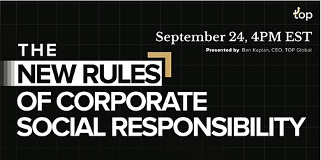 Toronto Webinar-The New Rules of Corporate Social Responsibility tickets