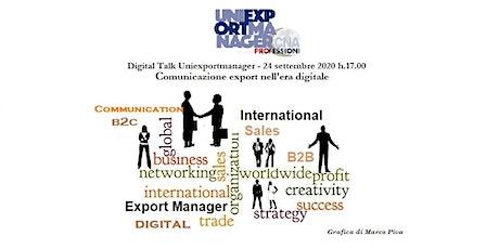 Comunicazione export nell'era digitale  tra rischi e opportunità biglietti