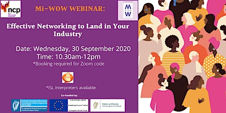 Effective Networking to Land in Your Industry Webinar tickets