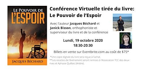 Conférence Virtuelle tirée du livre: Le Pouvoir de l'Espoir billets
