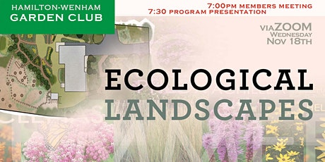 Creating Ecological Landscapes tickets