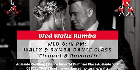 Elegant Waltz & Romantic Rumba Dance Class - Wed 6:15 PM tickets