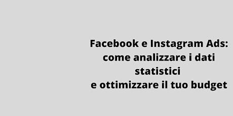 WEBINAR : Fb e Instagram Ads: dati statistici e budget biglietti