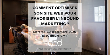 Webinar - Comment optimiser son site pour favoriser l'Inbound Marketing ? billets