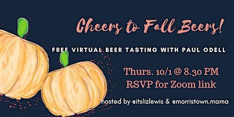 Cheers to Fall Beers: Virtual Beer Tasting tickets
