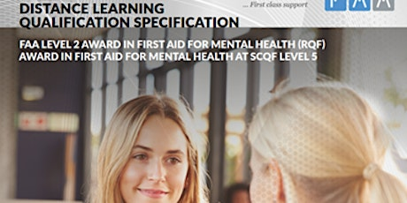 FAA LEVEL 2 AWARD IN FIRST AID FOR MENTAL HEALTH (RQF) tickets