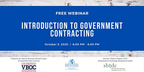 Introduction to Government Contracting Webinar tickets