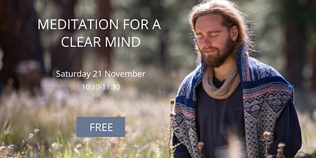 Meditation for a clear mind (Free) tickets