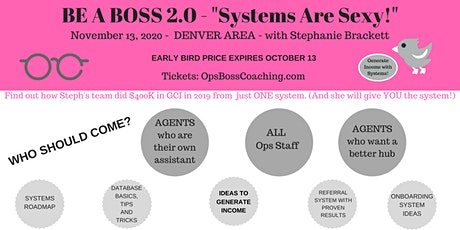 BE A BOSS 2.0 – Systems Are Sexy tickets