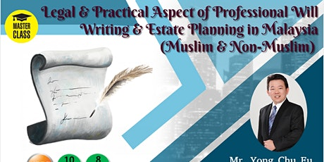 Practical Aspect Of Professional Will Writing(Muslim&Non-Muslim) tickets