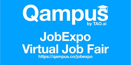 College / University Virtual JobExpo Career Fair Boston Qampus.co tickets