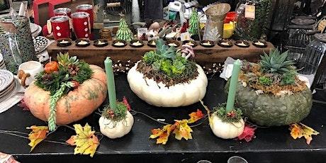 Succulent Pumpkin Centerpiece tickets