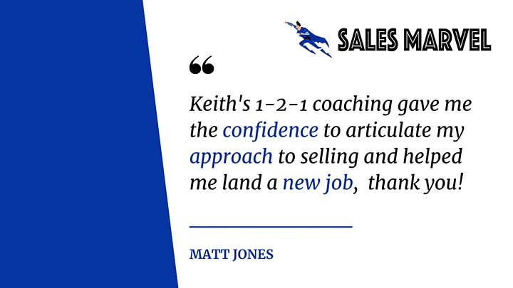 Introduction to Sales - FREE Masterclass Taster session by Keith Rozelle image