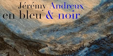 en bleu et noir, par Jérémy Andreux (encres de Chine sur washi) billets