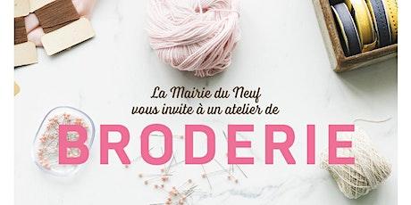 """""""BIEN VIEILLIR DANS LE 9e """" - ATELIER DE BRODERIE billets"""
