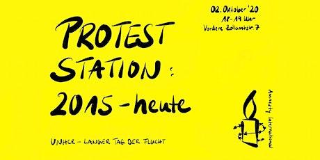 Proteststation: 2015 und heute? Tickets