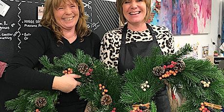 Luxury Christmas Wreath Making Workshop Nov 26th tickets