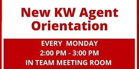 New KW Agent Orientation tickets