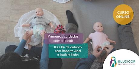 Primeiros Cuidados com o Bebê para Gestantes - Online - Outubro ingressos