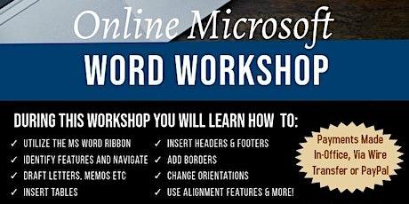 Toyas Typing Online Workshops - Microsoft Word tickets
