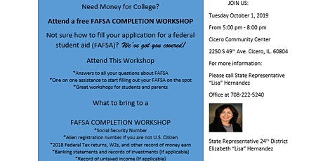 Free FAFSA Completion Workshop tickets