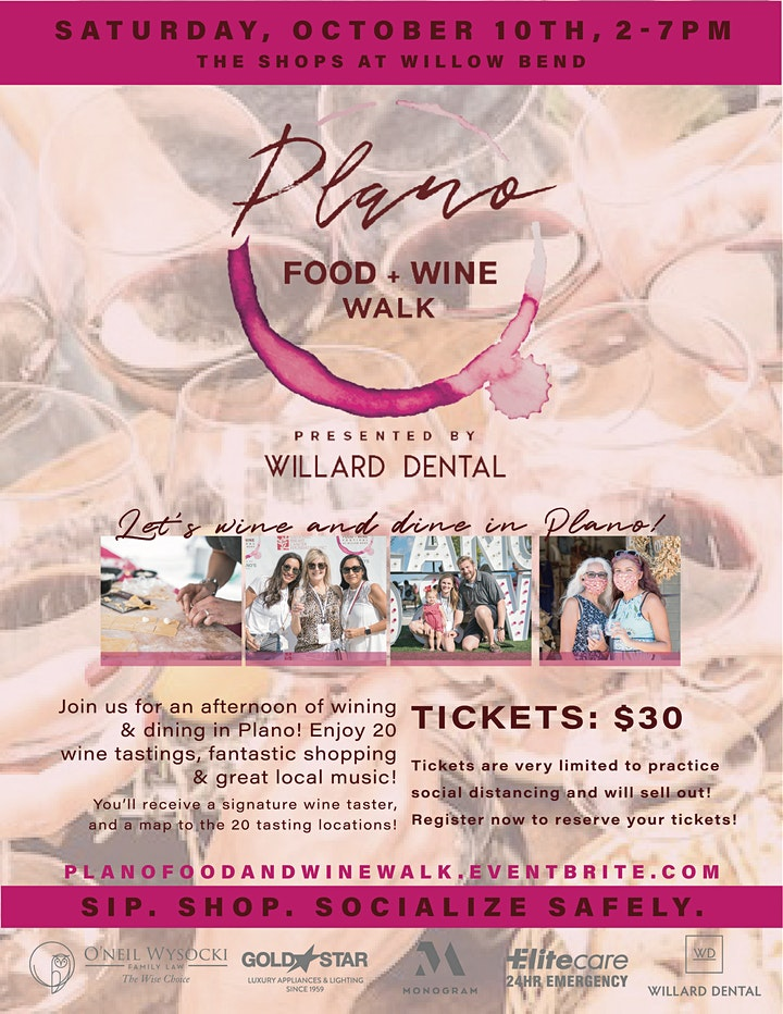 Plano Food + Wine Walk Presented By Willard Dental image