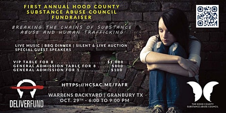 First Annual Hood County Substance Abuse Council Fundraiser tickets