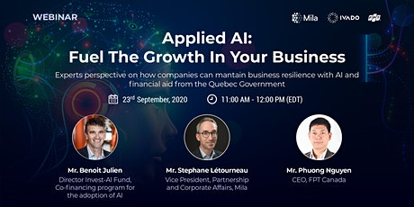 Webinar - APPLIED AI: FUEL THE GROWTH IN YOUR BUSINESS tickets