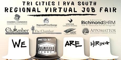 Tri-Cities | RVA South REGIONAL Virtual Job Fair (EMPLOYERS ONLY) tickets