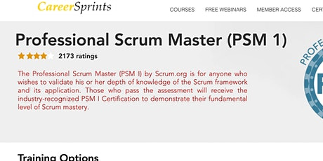 Crack the Professional Scrum Master (PSM 1)/PSPO Exam in 4 hours tickets