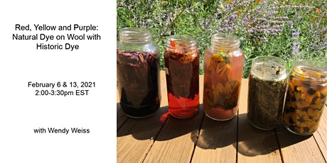 Using Historical Natural Dye on Wool: Red, Yellow & Purple Virtual Workshop tickets