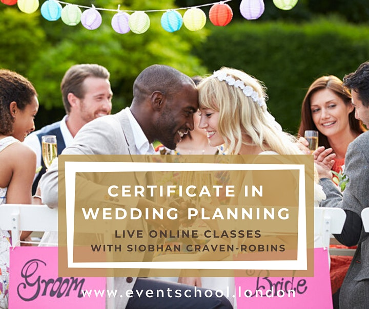 Certificate in Wedding Planning, Virtual Course, Online Classes image