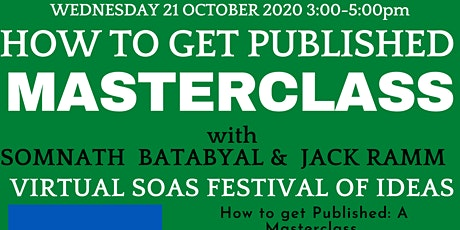 How to get Published: A Masterclass with Dr. Somnath Batabyal and Jack Ramm tickets
